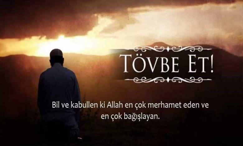 Tövbe istiğfar duası