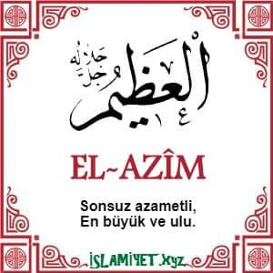 El-AzimEsması
