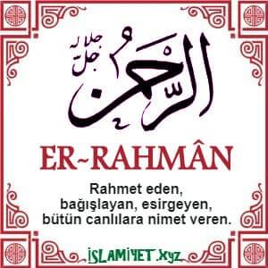 Er-Rahman Esması