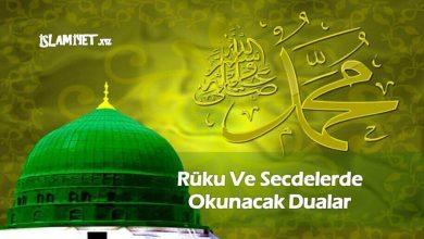 Photo of Rüku Ve Secdelerde Okunacak Dualar