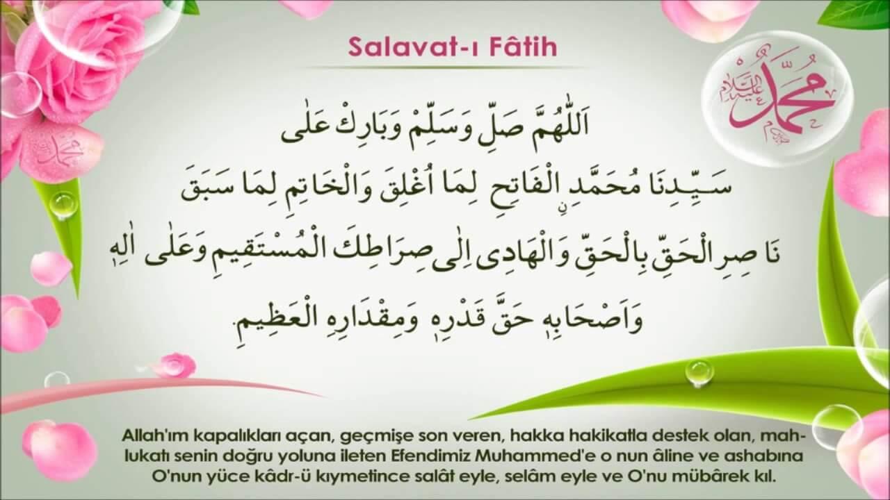 Salavatı Fatih Duası