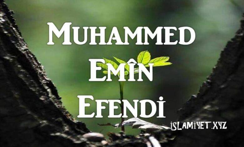 Photo of Muhammed Emîn Efendi